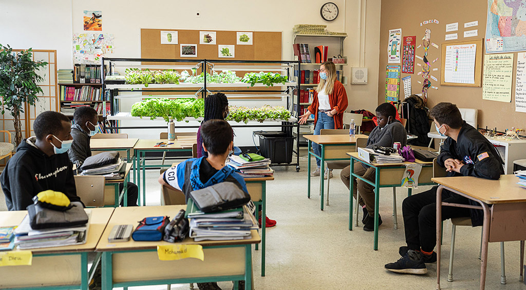 educational approach class hydroponics
